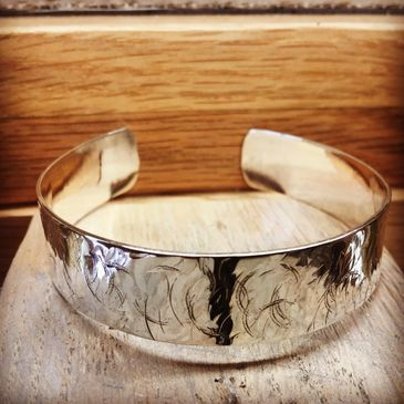 Handmade Silver Cuff Bracelet - make your own jewellery workshops