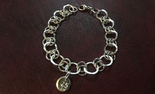 Bespoke hand made sterling silver chain / charm bracelet