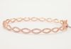 BN01142 Rose Gold Twisted Eternity Bangle 14K 0.46CT
