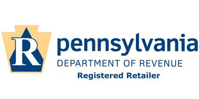 Registered retailer with Pennsylvania Department of Revenue.