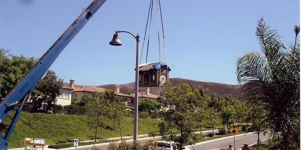 Our spa lifting services being performed in a neighborhood in Orange County, CA
