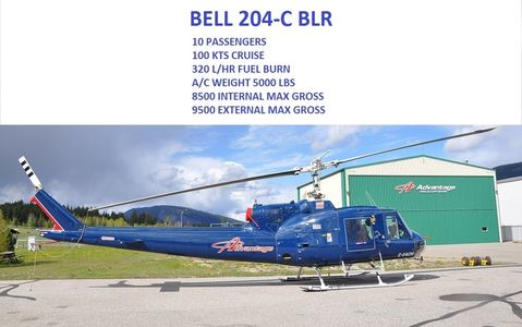 Bell 204 helicopter