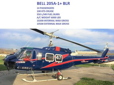 Bell 205 helicopter