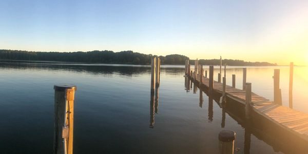View from the pier at Arks Landing. Imagine taking some gorgeous wedding day photos with this as your background!