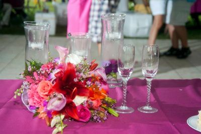 Beautiful floral table setting