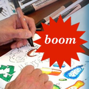 BOOM! Super-quick consumer product illustration at brainstorm sessions delivers instant results