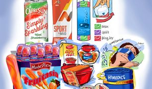 Consumer product illustrations for marketing research.
