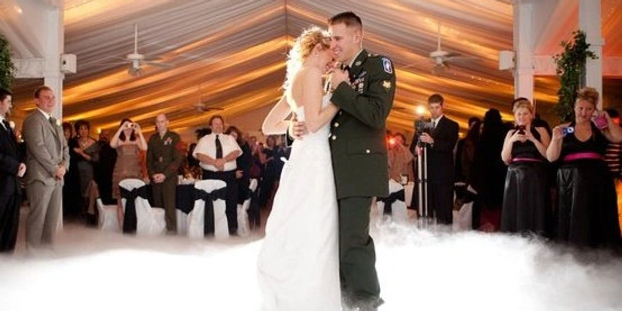 A New Years Eve Wedding with a U.S. Army soldier & his wife Dancing on the Clouds at Occasions at Wedgefield.