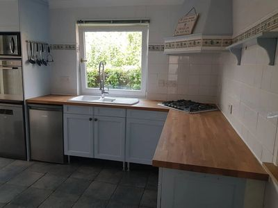 Solid oak worktops, sink installation, gas hob installation with Gas Safe Contractor