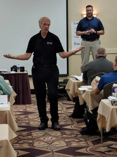 Dr. David Kohl and Joe Carey instructing at the 2018 Agricultural Lending School.