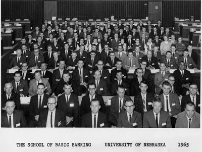 The very first School of Basic Banking offering in 1965 with over 100 bankers in attendance.