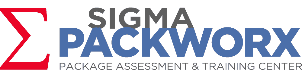 Sigma Packworx, Package Assessment & Training Center logo.