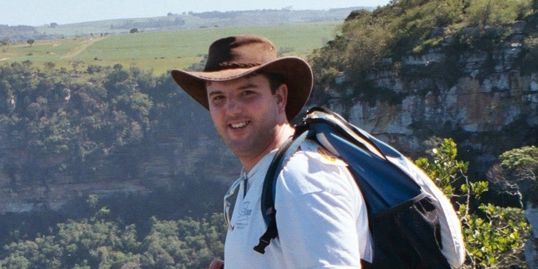 Bespoke travel planner Kit Richards hiking at Oribi Gorge in South Africa.