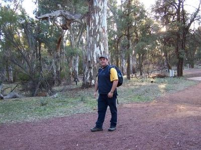 Setting off on a 21km hike across Wilpena Pound and back.