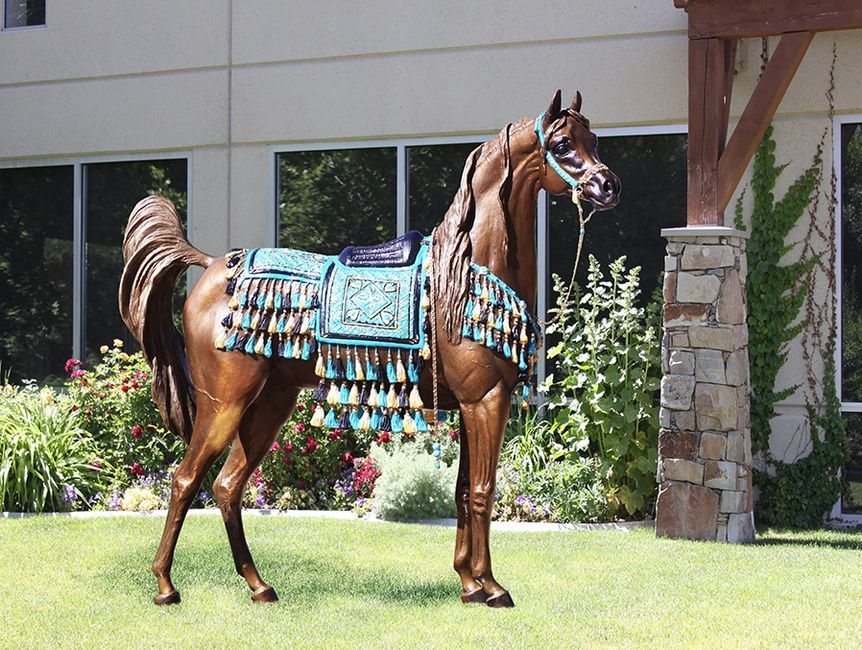 Proposed Life Size Arabian Horse Bronze Sculpture