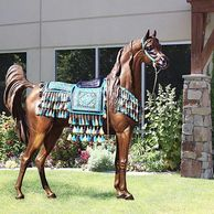 The Treasure life size Arabian / Bedouin Horse lifesize in bronze.