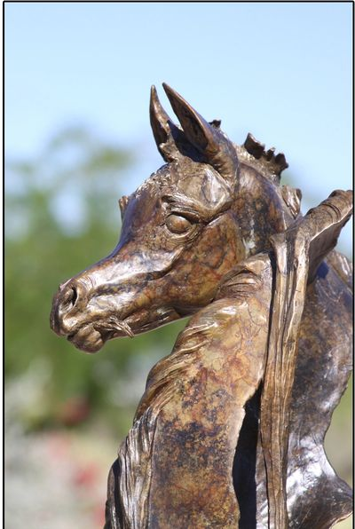Mare and Foal bronze sculpture by J. Anne Butler