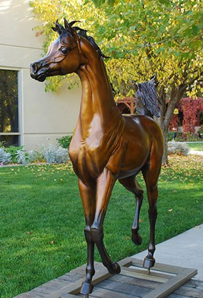 Dream of Spring, bronze life size Arabian horse sculpture