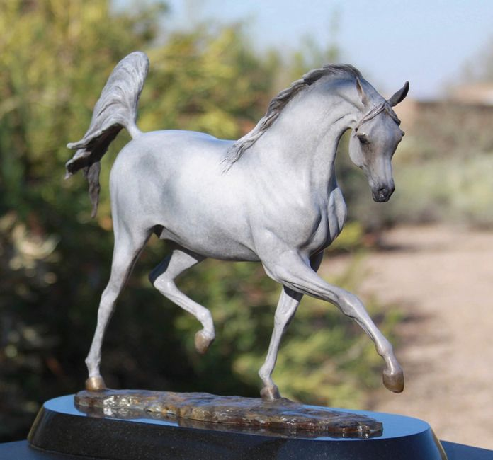 Arabian Horse Bronze Sculpture