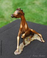 We can make this miniature foal as a life size bronze statue.