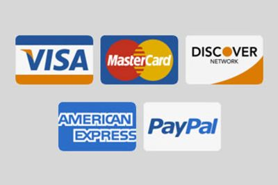 We accept most forms of credit / debits cards, paypal and bank wires transfers