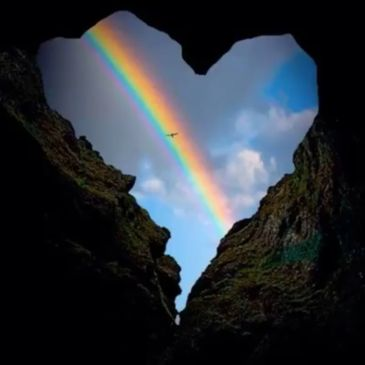 The Rainbow inside a compassionate heart