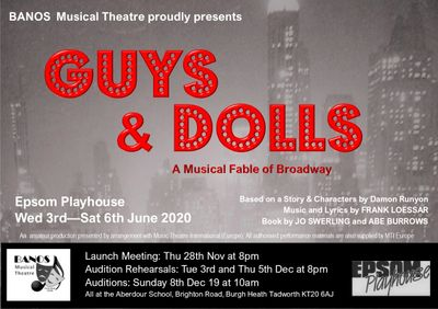 Click on this image to go to the audition pieces for Guys and Dolls