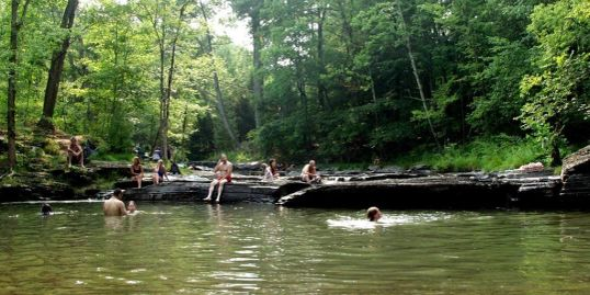Walk to a popular swimming hole just 2 blocks from your Hideaway, Woodstock NY Vacation Rental
