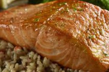 Special grilled salmon.