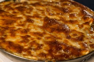Bake your pasta with a layer of cheese on top.
