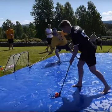 Soap Hockey, Slip N Slide, Floorball
