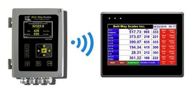 wireless belt scale. remote displays color touch screen monitors and tablets