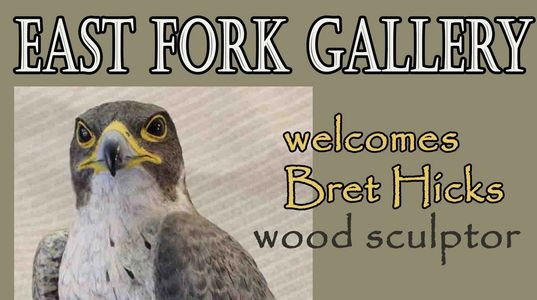 Wildlife artist Bret Hicks sculptures are displayed and sold at the East Fork Gallery in Gardnerville, Nevada.