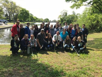 J F Kennedy Key Club & others at Cleanup on May 19, 2019.
