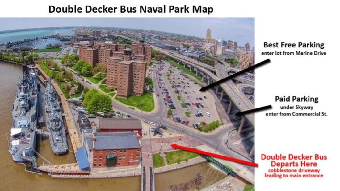 Buffalo Naval Park bus tour.  Tours departing from Canalside.