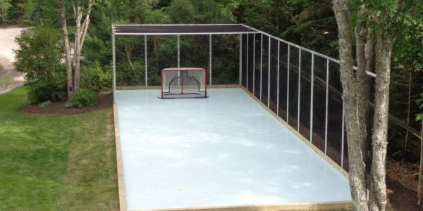 Synthetic Ice Outdoors