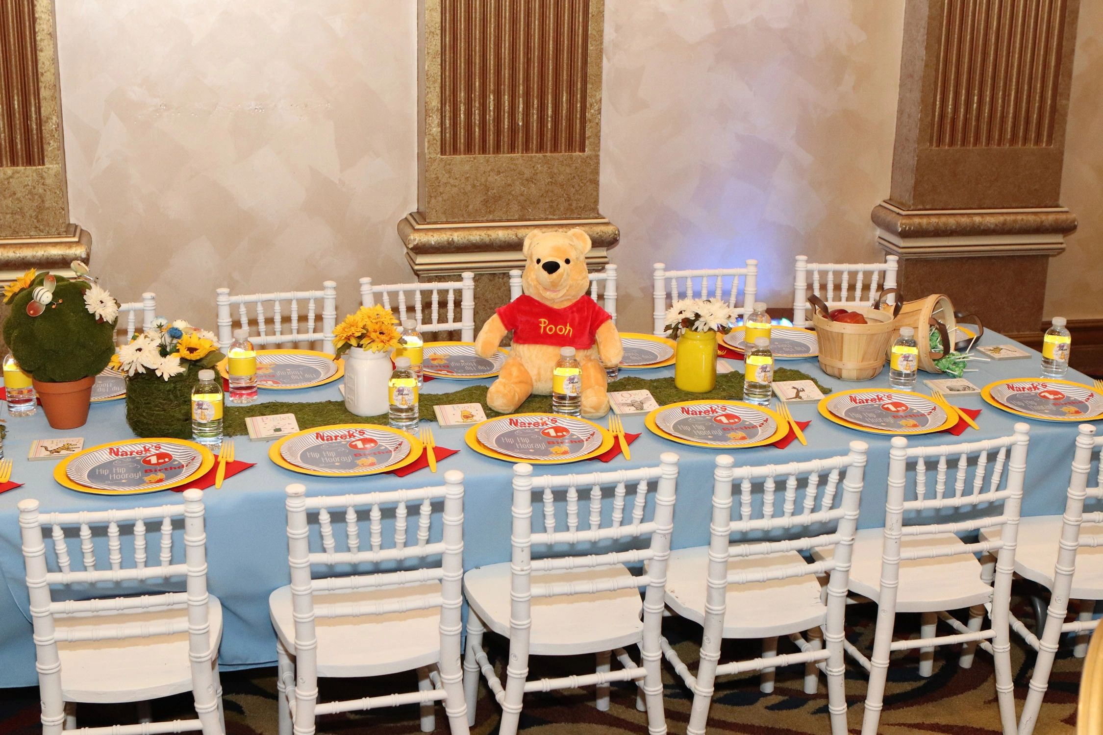 Admirable Winnie The Pooh 1St Birthday Andrewgaddart Wooden Chair Designs For Living Room Andrewgaddartcom