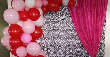 balloon arches, organic balloons, balloon decor, party decorations, event decor, party planner
