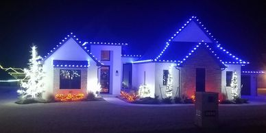 Holiday lighting Christmas x-mas lights illumination led tree wrapping gutter roof L.E.D. house c9
