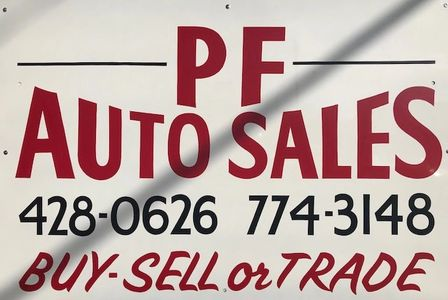 PF Auto Sales sign