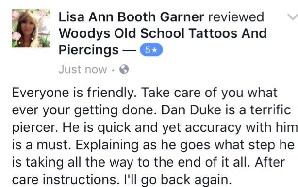 Reviews And Testimonials Woodys Old School Tattoos