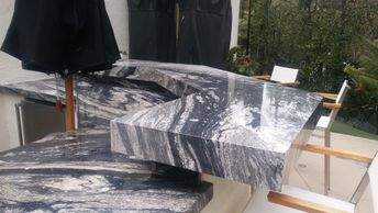 Barbecue, outdoor, countertops, granite, marble, exotic stone