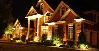 landscape lighting, house lighting, lighting design