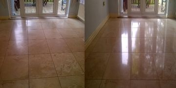 travertine floor cleaning Derbyshire