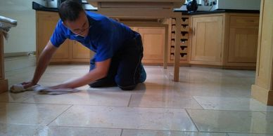 cleaning and sealing stone floors in Nottinghamshire and Derbyshire