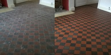 quarry tile cleaning in Derbyshire and Nottinghamshire