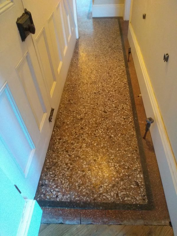 Terrazzo floor cleaning and renovation in Nottingham