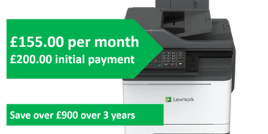 Lexmark XC2235 Colour Laser MFP pay monthly contract for business users. Save money on printing cost