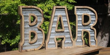 Rustic Bar Sign bar rental sacramento rustic wedding rentals marquee letters