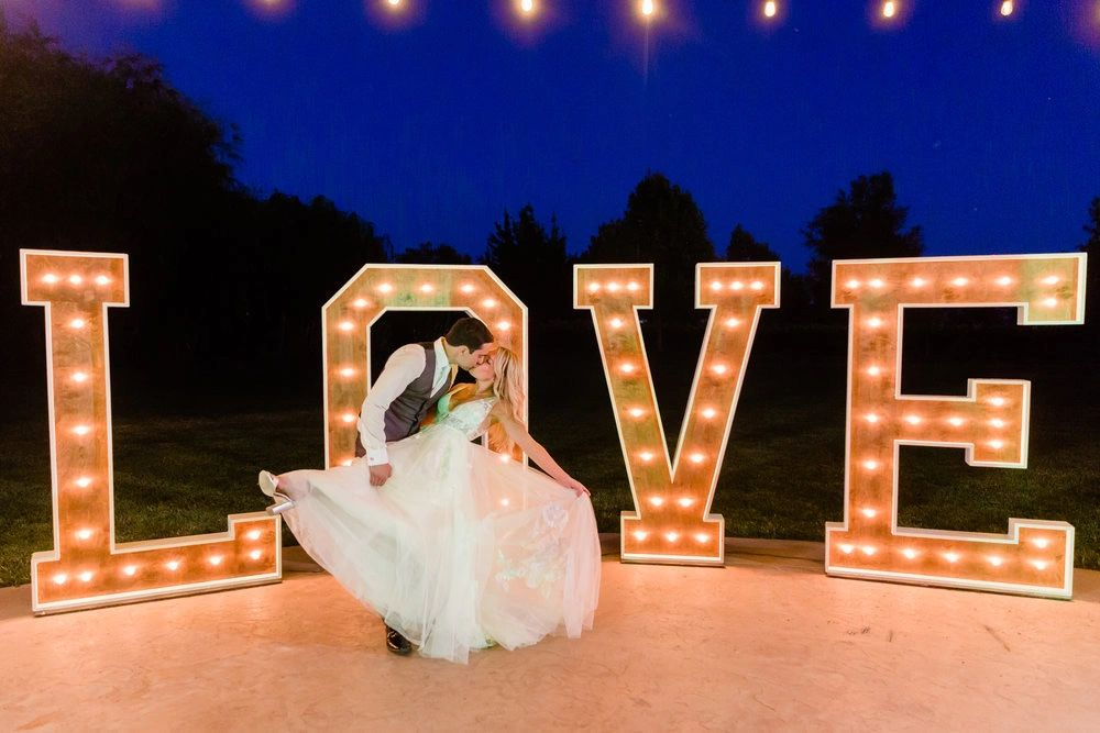 Large LOVE Marquee Letters Sacramento